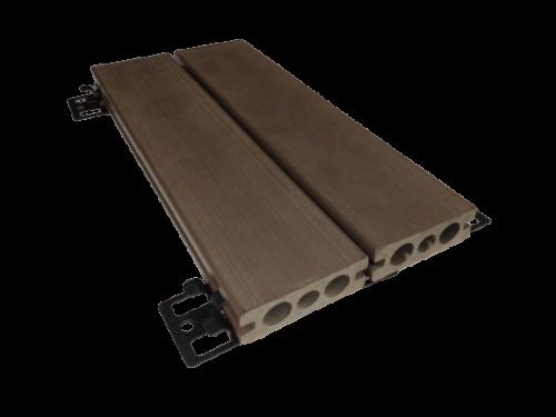 Deck Madeira Plástica (fêmea-fêmea) Régua 7,0cmx2,40m – caixa com 05 peças (4)